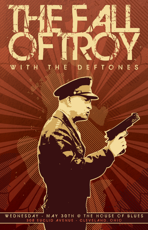 The Fall of Troy gigposter design