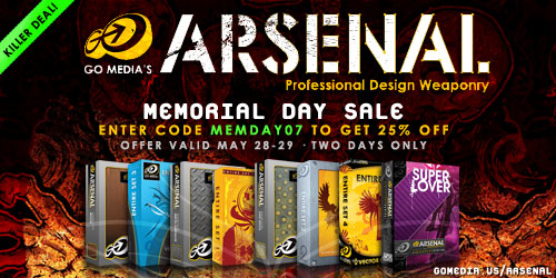 Go Media's Arsenal: Memorial Day Sale