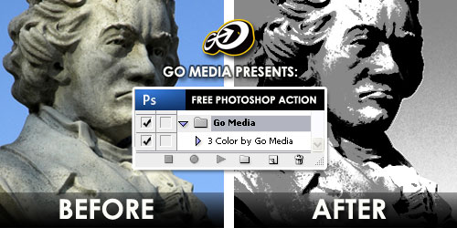 Go Media Photoshop Action - 3 Color Conversion