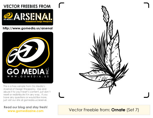 Free Ornate Vectors from Go Media