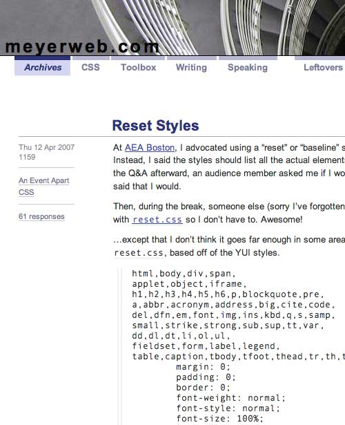 CSS Reset Styles
