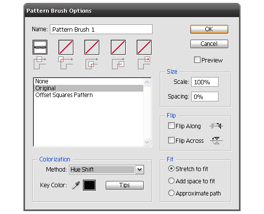 how to make a vector pattern brush 6d