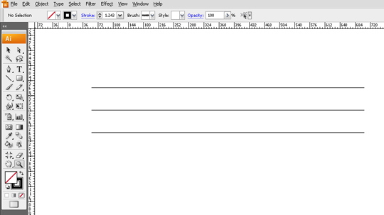 adobe illustrator step 1