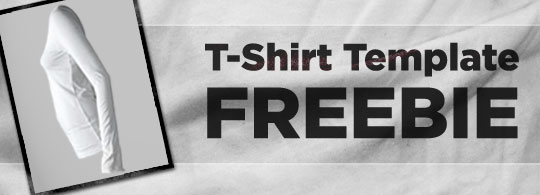 T-shirt Template Freebie