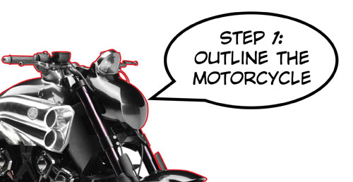 Vector motorcycle step1