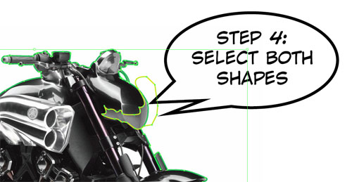 Vector motorcycle step 4