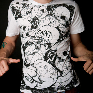 Paint the Stars Skull Shirt designed by Jeff Finley of Go Media