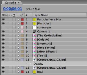 Color Coded layers keep things organized