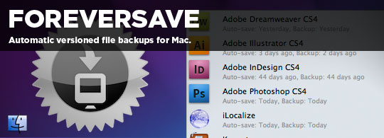 ForeverSave: Versioned File Backup for Mac