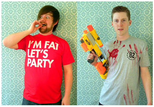David Murray - SEIBEI - I'm fat let's party - Zombie hunter shirt