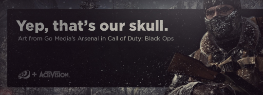 Call of Duty: Black Ops features Go Media Vector Art