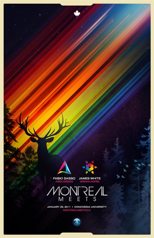 Montreal Meets poster by James White