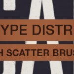 Distress type by hand in Photoshop