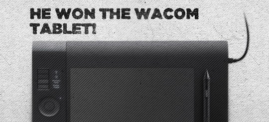 Win a Wacom tablet: the winner!