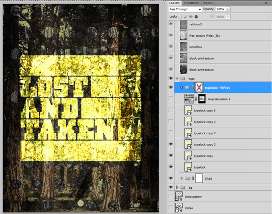 SAoS Lost and Taken poster tutorial - Type texture 03
