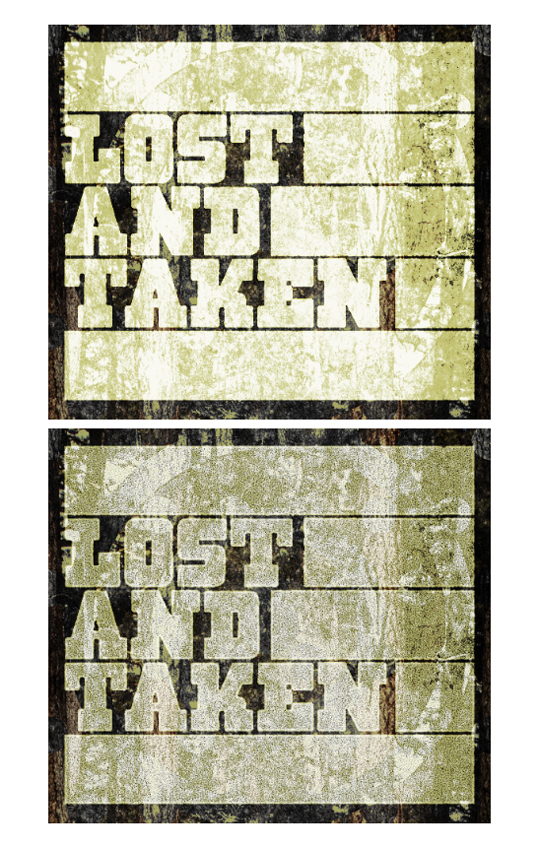 SAoS Lost and Taken poster tutorial - Type texture 06