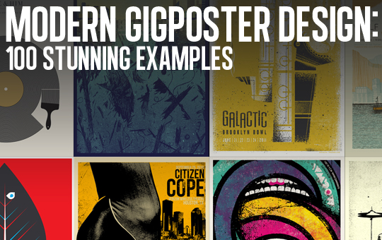 Modern Gigposter Design: 100 Stunning Examples - Header