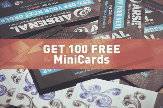 Get 100 Free MiniCards from Moo
