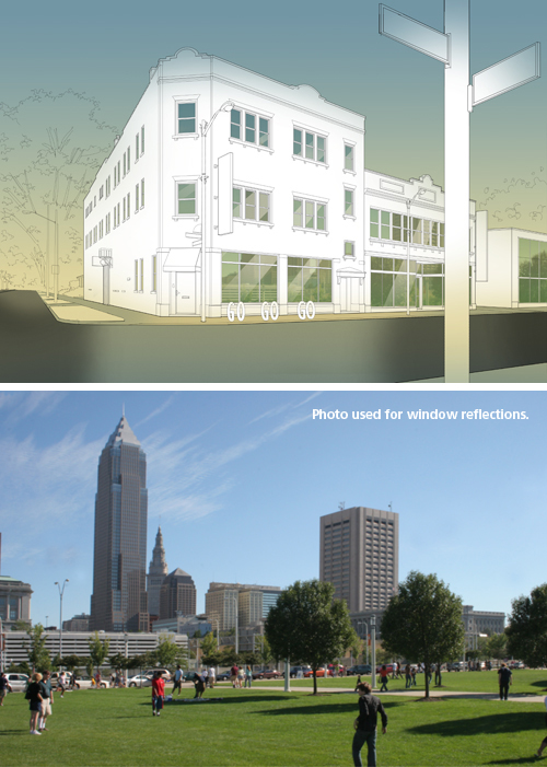 Creating an Architectural Illustration Using Reference Photography - Step 13