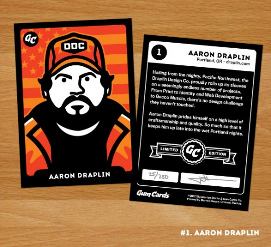 Aaron Draplin Gum Card