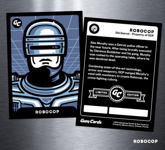 Robocop Gum Card