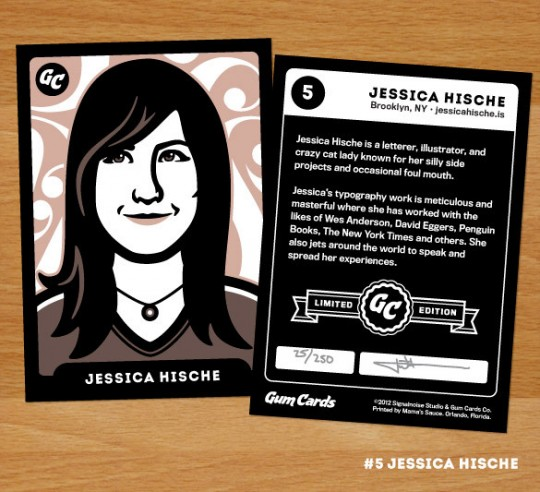 Jessica Hische Gum Card