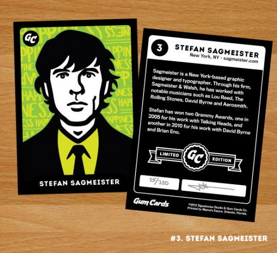 Stefan Sagmeister Gum Card