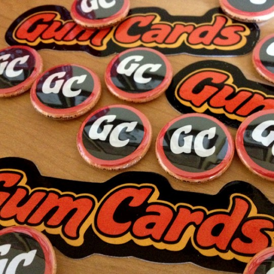 Gum Cards Buttons and Stickers