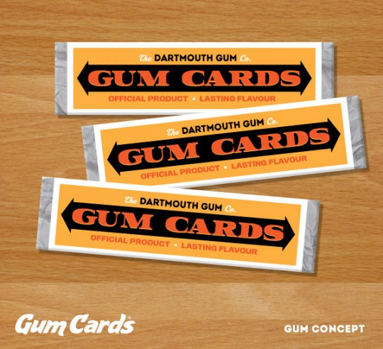 Gum Cards Gum Concept