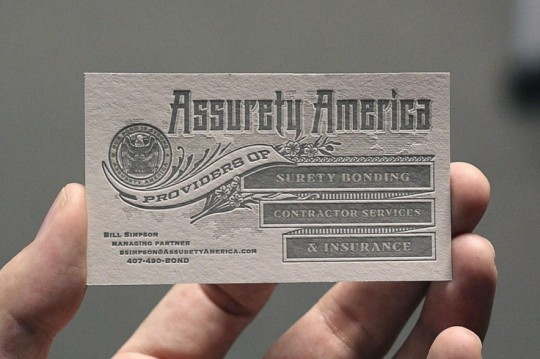 ASSURETY AMERICA BUSINESS CARD