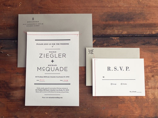 Nicole Zeigler & Mike McQuade: Wedding Materials