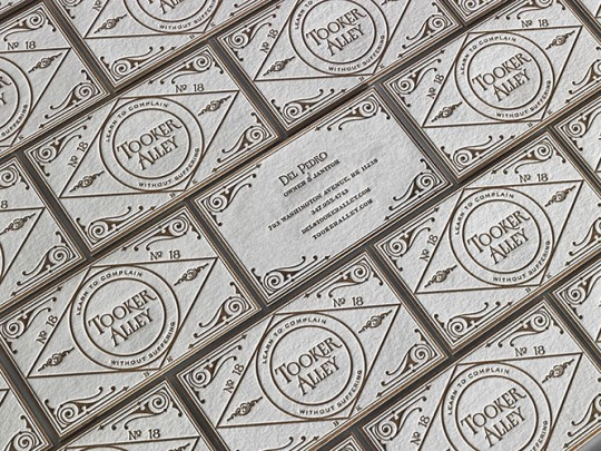 TOOKER ALLEY BUSINESS CARDS