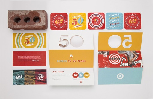Allan Peters: Target 50th Anniversary Party Branding
