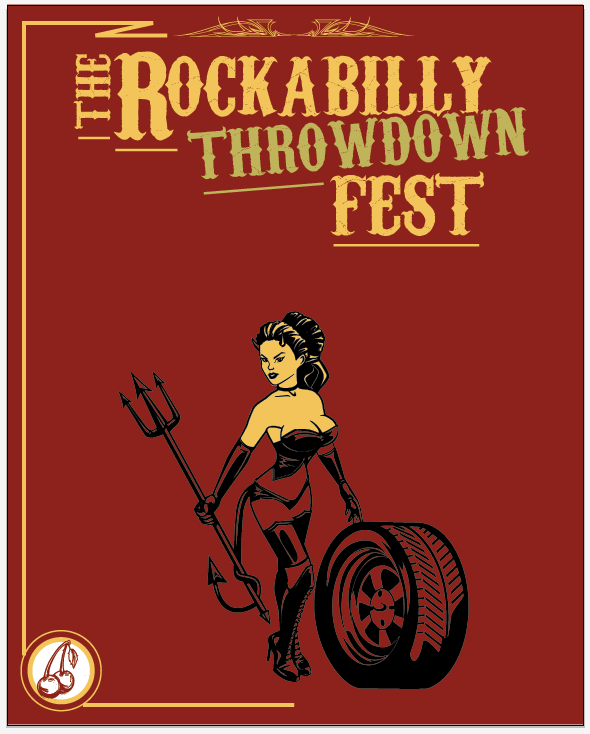 Create a Rockabilly Poster With Vector Set 22 - Layout progress